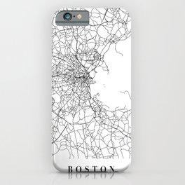 Boston Massachusetts Street Map Minimal iPhone Case