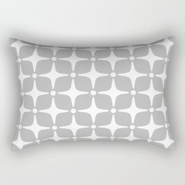 Mid Century Modern Star Pattern Gray 2 Rectangular Pillow