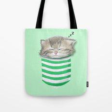 Cat in the Pocket Tote Bag