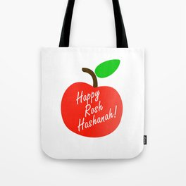 Rosh Hashanah inside an red apple or Jewish Near year greetings Tote Bag
