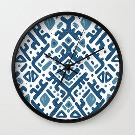 Ikat ornament. Tribal pattern Wall Clock