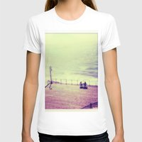 santa monica T-shirts featuring Santa Monica Boardwalk by Alissa Huff
