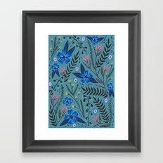 Dusk Garden Framed Art Print