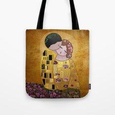 Kokeshi The Kiss Tote Bag