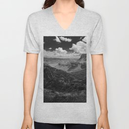 Dramatic Cloudy Mountain View at Lost Mine Trail, Big Bend Unisex V-Neck