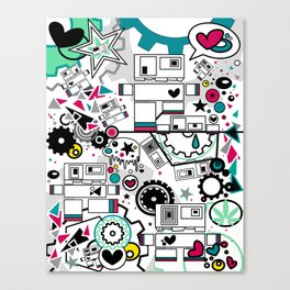 CUTE ROBOTS Canvas Print