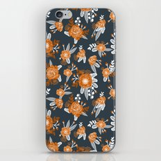 Texas longhorns orange and white university college texan football floral pattern iPhone & iPod Skin
