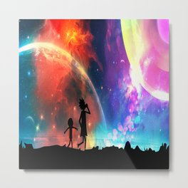 """Two possibilities exist: either we are alone in the Universe or we are not. Both are equally terrif Metal Print"
