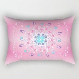 Music Notes In Pink Rectangular Pillow