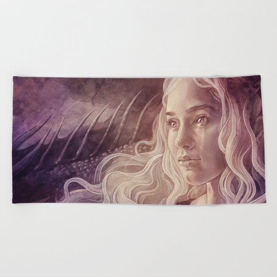 Fire and Blood Beach Towel