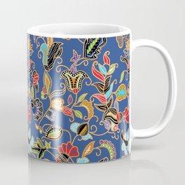Sarong Kebaya Batik Blue Coffee Mug