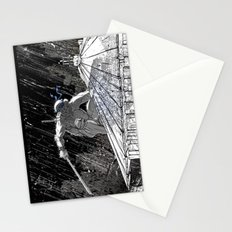 Black and White Ninja Turtle Leonardo Stationery Cards