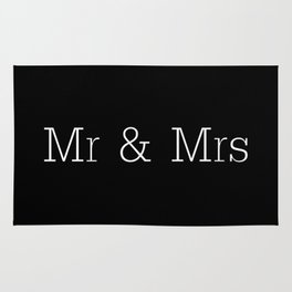 Mr & Mrs Monogram Standard Rug