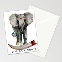 Save the Elephants Stationery Cards