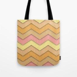 Summer Day Chevron Tote Bag