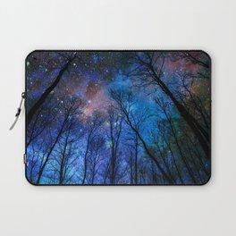 Black Trees Dark Blue Space Laptop Sleeve