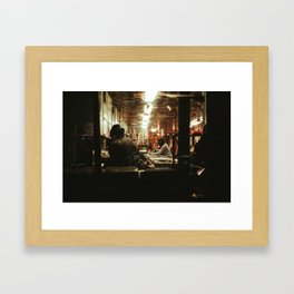 Record Shop Framed Art Print