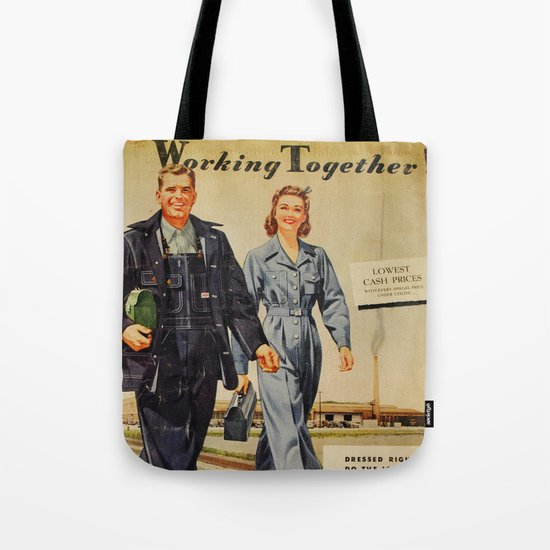 1942 Working Together Cover Tote Bag