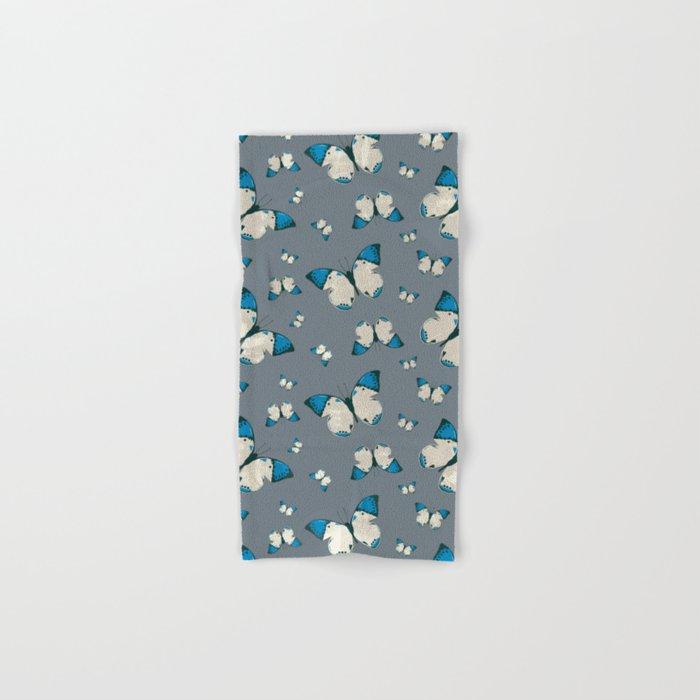 Spring Butterfly (Blue Pattern) Hand & Bath Towel