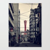 kobe Canvas Prints featuring Kobe Cables by Dora
