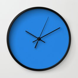 Dodger Blue Pixel Dust Wall Clock