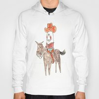 manatee Hoodies featuring Manatee Cowboy by withapencilinhand