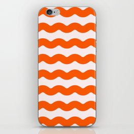 Winter 2019 Color: Unapologetic Orange on Pink Waves iPhone Skin