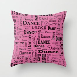 Just Dance - Pink Throw Pillow