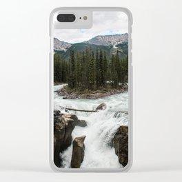 Sunwapta Falls, Jasper National Park/Icefields Parkway Canada Clear iPhone Case
