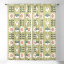 Set Sun Olive Sheer Curtain