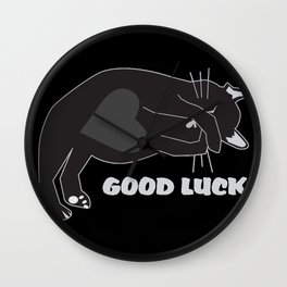 Good Luck cat Wall Clock