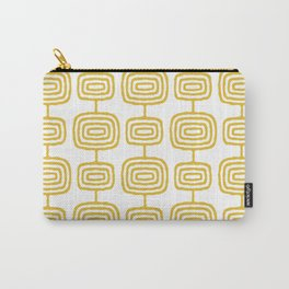 Mid Century Modern Atomic Rings Pattern Mustard Yellow 3 Carry-All Pouch