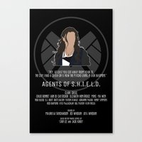 agents of shield Canvas Prints featuring Agents of S.H.I.E.L.D. - Skye by MacGuffin Designs