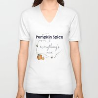 spice V-neck T-shirts featuring Pumpkin Spice by Skuishy