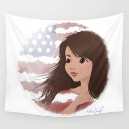 God Bless America Wall Tapestry
