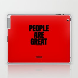 0004: PEOPLE ARE GREAT in small doses. Laptop & iPad Skin