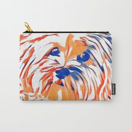 Copper the Havapookie Signed Art 2 Carry-All Pouch