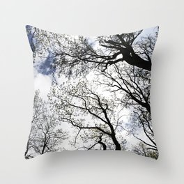 Vertical Trees Throw Pillow