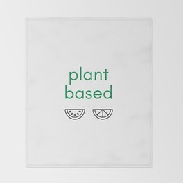 PLANT BASED - VEGAN Throw Blanket