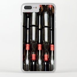 Wine red bottles in factory Clear iPhone Case