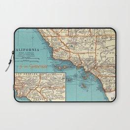 So Cal Surf Map Laptop Sleeve