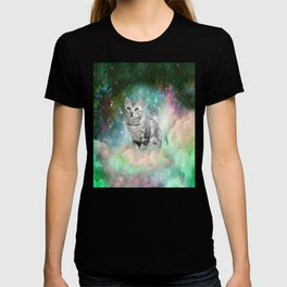 Purrsia Kitty Cat in the Emerald Nebula of Innocence T-shirt