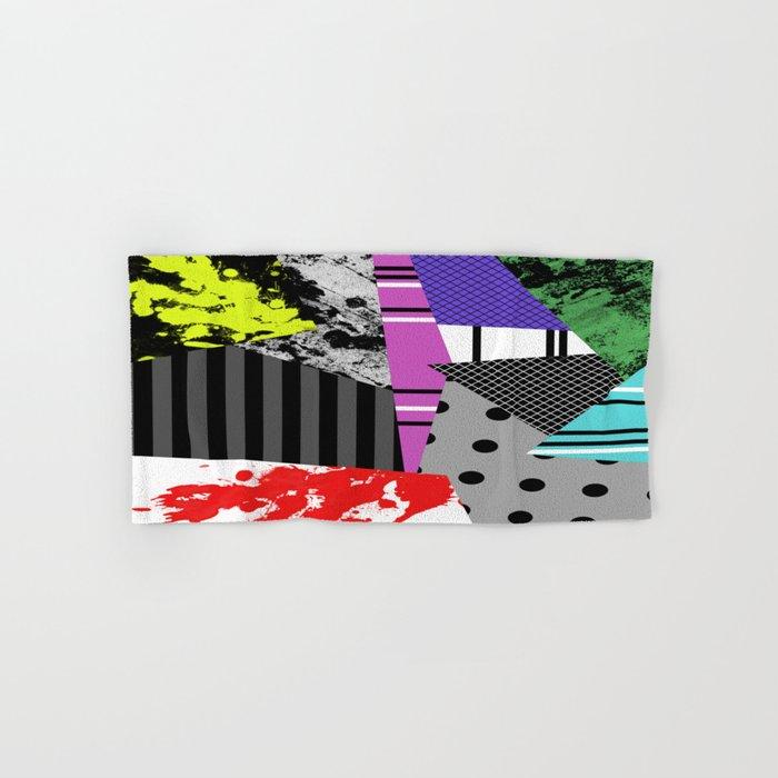 Pick A pattern II - geometric, textured, colourful, splatter, stripes, marble, polka dot, grid Hand & Bath Towel
