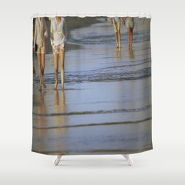 2's at the Beach Shower Curtain