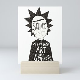 Rick Minimalist - Science Quote Mini Art Print