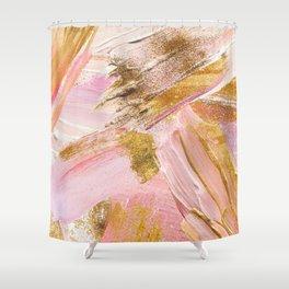 Blush Glitz Shower Curtain