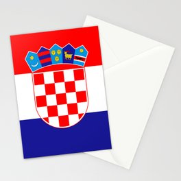 Flag of Croatia Stationery Cards