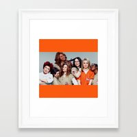 oitnb Framed Art Prints featuring OITNB by I Love Decor