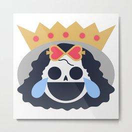 Brook Emoji Design Metal Print