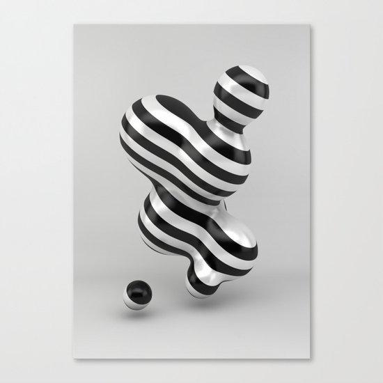 Primitive Stripes Canvas Print